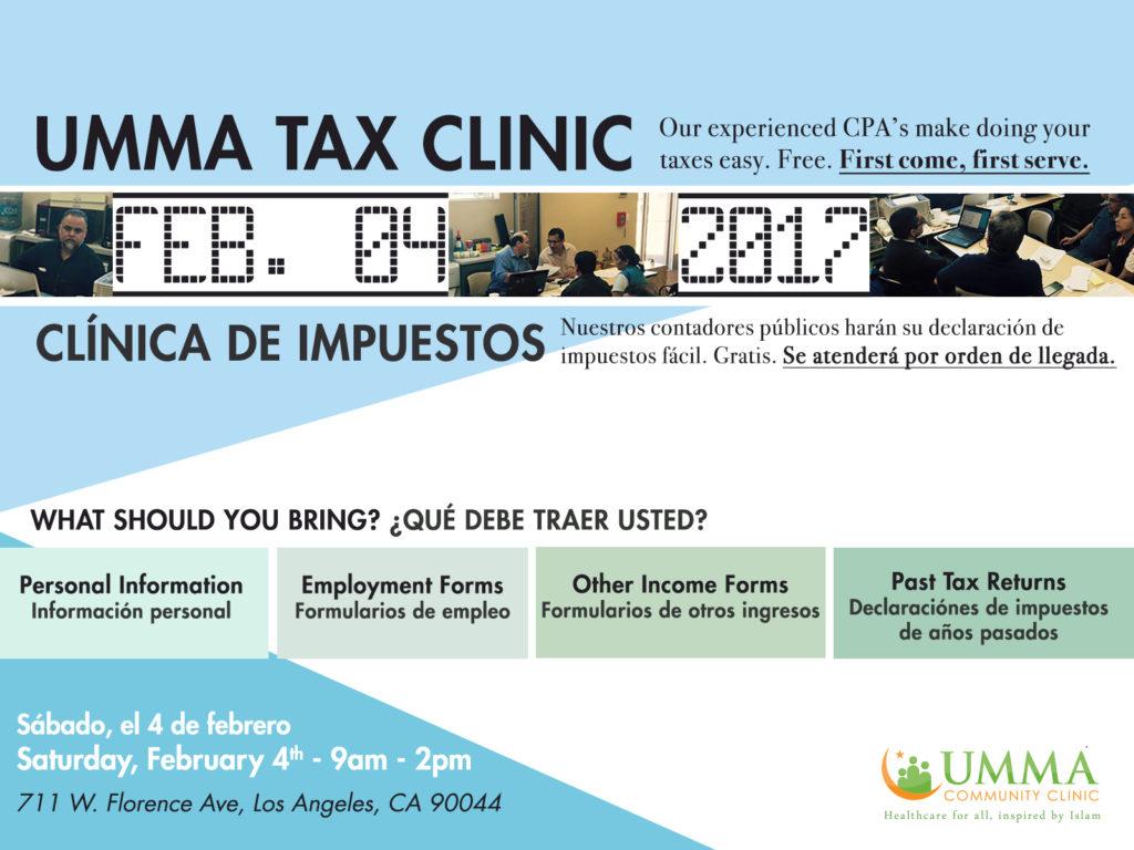 UMMA Tax Clinic – 2017 – Clínica de Impuestos