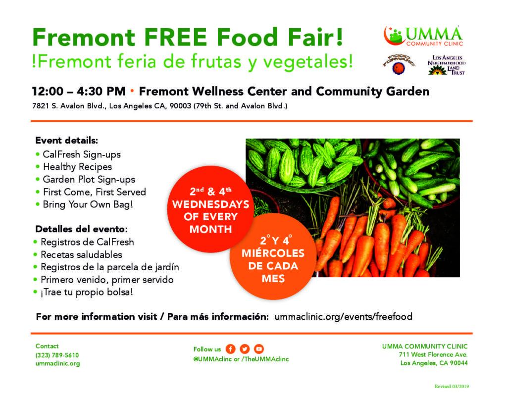 New Location: Fremont Food Fair  | Nueva ubicación: Fremont feria de frutas y vegetales
